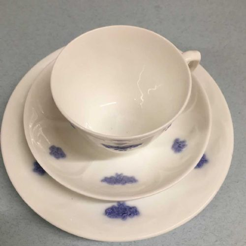 Adderley Art Deco Bone China - Trios x 3 - Lavender - 30s